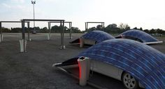 V-tent:EVを保護し、太陽光発電で充電する駐車場システム « WIRED.jp