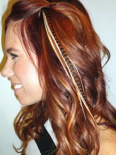 I really want feather hair extensions but mine would have to be a little more discreet than these because of work...