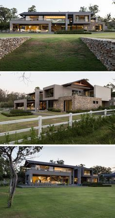 Werner van der Meulen of Nico van der Meulen Architects has recently completed a home in Blair Atholl, a golf estate located north of Johannesburg, South Africa.
