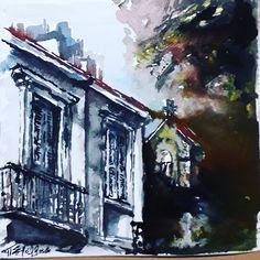 Patras, Greece, The aglican church Watercolor Patras, Greece, Watercolor, Painting, Art, Greece Country, Pen And Wash, Art Background, Watercolor Painting