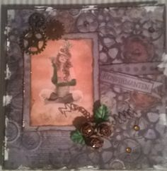 Steampunk ish.... I Card, Steampunk, Frame, Projects, How To Make, Painting, Home Decor, Art, Picture Frame
