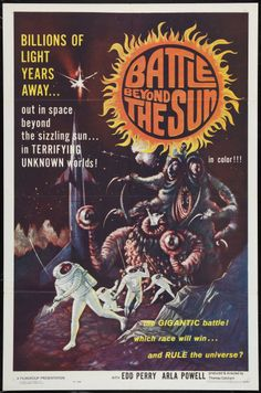 "Old Cult Movie Posters | Original Movie Poster ""Battle Beyond the Sun"" 1962 Sci-Fi Cult Classic"