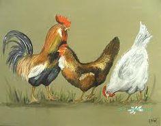 arte pintura gallos y gallinas - Buscar con Google