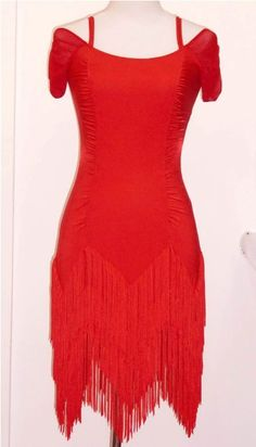 Fringed Ballroom Latin Dance Dress