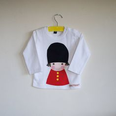 Boys soldier applique t shirt white by cheekycharlieTs on Etsy
