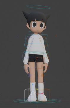 3d Model Character, Character Modeling, Character Concept, Character Art, Concept Art, Modelos 3d, Anime Figurines, Anime Poses, Science Fiction Art