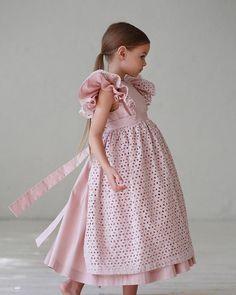 First communion dress Girls pink dress Girls white dress Girls Communion Dresses, Little Dresses, Little Girl Dresses, Girls Dresses, Flower Girl Dresses, Baby Dresses, Flower Girls, Prom Dresses, Baby Dress Design