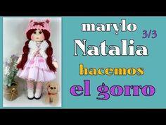 muñeca marylo Natalia, hacemos el gorrito, video- 325 - YouTube Fabric Doll Pattern, Fabric Dolls, Doll Videos, Doll Tutorial, Soft Dolls, Couture, Craft Tutorials, Hand Embroidery, Baby Dolls
