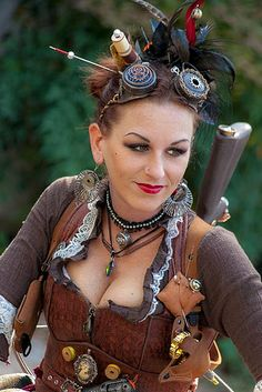 Steampunk. I love the spools and pincushion.