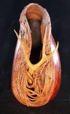 Redcloud Originals  Fine Gourd Art by Judy Richie. More award Winning Gourds here