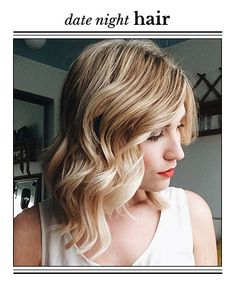 A Glam Style for Mid-Length Hair