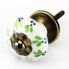 Painted Ceramic Cabinet Knob, Drawer Pulls & Handles Set/2pc ~ C62RLS Kitchen Drawer Pulls and Handles. Hand Glazed Ceramic Knobs with Antique Brass Hardware for Dresser, Drawers, Cabinets or Vanity Knobs & More Home Decor http://www.amazon.com/dp/B00F9IK1FM/ref=cm_sw_r_pi_dp_b2ygub12N616B