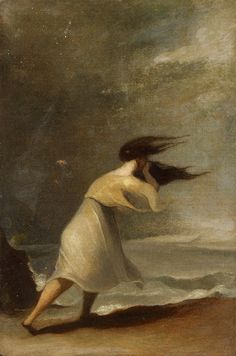 THOMAS SULLY (AMERICAN 1783-1872) WINDY DAY AT THE BEACH Sold 6/9/13