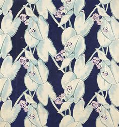 Textile design, 'Swamp Lily'   Elza Sunderland (Hungary, active United States, 1903-1991)   Gouache on paper   USA, circa 1945   Los Angeles County Museum of Art, LACMA