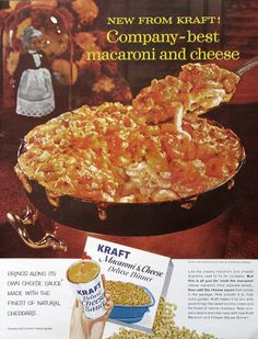 1961 Kraft Macaroni & Cheese Ad  1960s Nostalgic Food