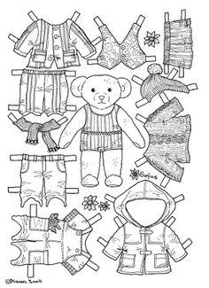 Karen`s Paper Dolls: Sofus 1-2 Paper Doll to Colour. Sofus 1-2 påklædningsdukke…
