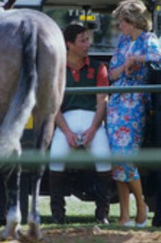 June Prince Charles and Princess Diana during the Constantine Cup polo match at Smith's Lawn, Windsor.