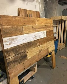 These keep getting better 👌🏼👊🏼 Full size reclaimed wood headboard shipping out tomorrow. Reclaimed Wood Headboard, Reclaimed Barn Wood, Repurposed Wood, Rustic Headboards, Plywood Headboard, Repurposed Items, Pallet Crates, Wood Pallets, Diy Full Size Headboard