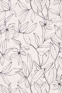 Wallpaper or poster design with gorgeous floral line art surface pattern. Motif Floral, Floral Prints, Lino Prints, Block Prints, Textile Patterns, Print Patterns, Floral Patterns, Pattern Illustration, Floral Illustrations