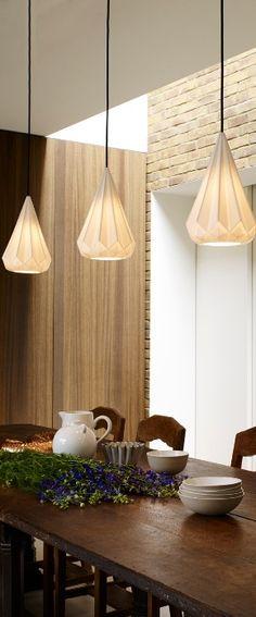 Lampe de table Balloon Small \/ H 40 cm Verre transparent \/ Cuivre - lampe für küche