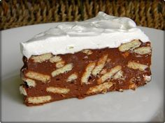 Čokoladna puding torta - najjednostavnija torta na svijetu Greek Desserts, Greek Recipes, Desert Recipes, Easy Desserts, Greek Cake, Crazy Cakes, Baking Tins, My Best Recipe, Pastry Recipes