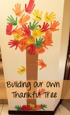 Make paper hand cutouts from your children's hands. Write things they are thankful for on the hands and you will build your own thankful tree!