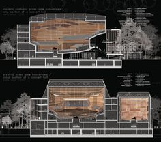 Sinfonia Varsovia Concert Hall / Hermanowicz Rewski Architekci. Horizontal Sections