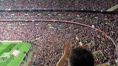Bubbles at Wembley, West Ham fans