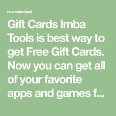Gift Cards Imba Tools is best way to get Free Gift Cards. - Gift Cards Imba Tools is best way to get Free Gift Cards. Now you can get all of your favorite apps - Sell Gift Cards, Itunes Gift Cards, Free Gift Cards, Free Gifts, Paypal Gift Card, Visa Gift Card, Best Amazon Gifts, Mastercard Gift Card, Gift Card Specials