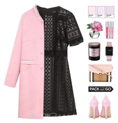 """""""Pack and Go: Milan"""" by ffashioninspire ❤ liked on Polyvore featuring Zara, WithChic, Diane James, Byredo, Burberry, Casetify, Victoria's Secret, Gianvito Rossi, women's clothing and women"""