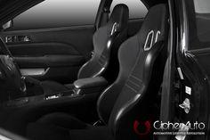 CPA1007 Black Cloth Cipher Auto Racing Seats - Pair