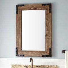 Bonner Reclaimed Wood Vanity Mirror Pine In 2019 Remodel within proportions 1500 X 1500 Pine Bathroom Mirror - An elite user must not miss to select the Wood Framed Bathroom Mirrors, Diy Vanity Mirror, Wood Mirror, Wood Bathroom, 30 Vanity, Rustic Mirrors, Vintage Mirrors, Bathroom Plants