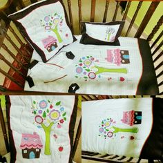 "#Chocolate #Button #Pretty #Tree #Crib #Bedding #Baby #Set. #Cotsheet / #Flatsheet = 1350/- #Handquilt / #Quilt = 1350/- #Pillow Case 10*15 = 625/- #Roller /#Bolster 18"" = 625/- each  #nursery #nurserybedding #babyroom #baby #child #infant #toddler #pregnant #babybedding #beddingsetbaby #babystuff #babypillowcase #babybolstercase #babysham #bumpersetbaby #cotset #cotlinen"