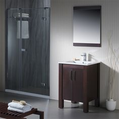 A simple and elegant modern vanity available in multiple finishes to accommodate your sleek bathroom aesthetic. Modern Bathroom Sink, Small Bathroom Vanities, Modern Vanity, Bathroom Layout, Bathroom Faucets, Bathroom Ideas, Remodel Bathroom, Bathroom Organization, Tile Layout