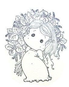 Waiting For Christmas - Sparkle Poinsettia Tilda