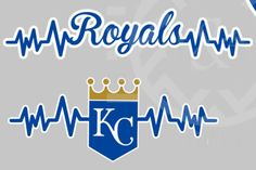 New to EAPersonalizedGifts on Etsy: My Heart Beats for the Royals window decal Kansas City baseball World Series Champs (8.00 USD)