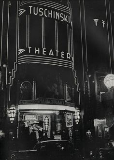 """1937. A view of the Tuschinski Theater at the Reguliersbreestraat in Amsterdam. The Tuschinski theater was acquired by Abraham Tuschinski in 1921 for a price of 4 mln guilders. The interior and exterior are a spectacular mix of styles: Amsterdam School, Jugendstil, Art Nouveau, Art Deco. When it first opened the theater contained electro-technical features, then considered revolutionary. During the Nazi occupation the theater was given the (non-Jewish) name """"Tivoli"""". #amsterdam #1937…"""