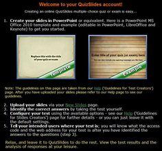 Quizslides: para crear pruebas de opción múltiple#educacion