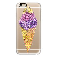 iPhone 6 Plus/6/5/5s/5c Case - Floral Ice cream ($40) ❤ liked on Polyvore featuring accessories, tech accessories, iphone case, apple iphone cases, iphone cases, iphone cover case, floral iphone case and slim iphone case