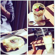 今日のランチ  車で前を通り過ぎる度 気になってたcafé  お気に入りました  #ランチ#カフェ #クロックマダム#アボカド#スムージー #ヨーグルト#グラノーラ #お腹いっぱい by otoha614