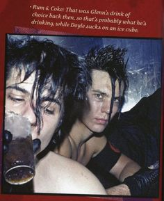 """sure he is 15 here."""" Glenn Danzig and Doyle along time ago in Misfits Doyle Misfits, Danzig Misfits, Beatles, Misfits Band, Glenn Danzig, Heavy Metal Music, Rockn Roll, The Clash, Rock Legends"""