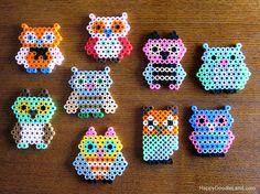 melty bead owls