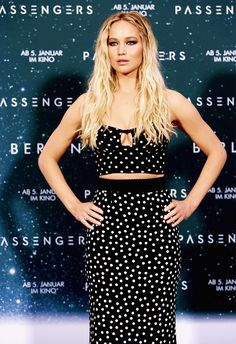 Jennifer Lawrence attends the 'Passengers' Berlin Photocall on December 2, 2016 in Berlin, Germany