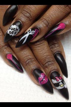 Stiletto nails by Gina