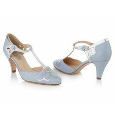 NEW Rachel Simpson - Gardenia Powder blue (pair) square
