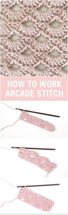 Arcade Stitch Crochet Tutorial