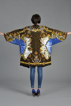 Luxe Baroque Sequin Leopard Trophy Jacket | BUSTOWN MODERN