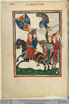 Cod. Pal. germ. 848: Große Heidelberger Liederhandschrift (Codex Manesse) (Zürich, ca. 1300 bis ca. 1340), Fol 316v