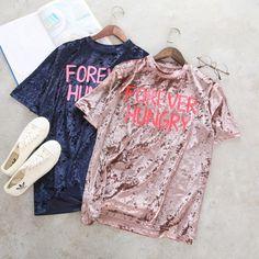 >> Click to Buy << T Shirt Tee Femme Women Pink Lette Printed Velvet Tshirt Tumblr Top Tee 2017 Fashion Brand Ladies Korean Ulzzang Tops Blusa #Affiliate