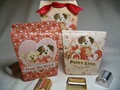 Set of 8 Puppy Love Bags/Boxes